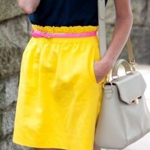 J. Crew Linen City Mini Skirt in Linen